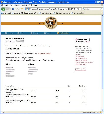 KA Italian Flour Order for Blog