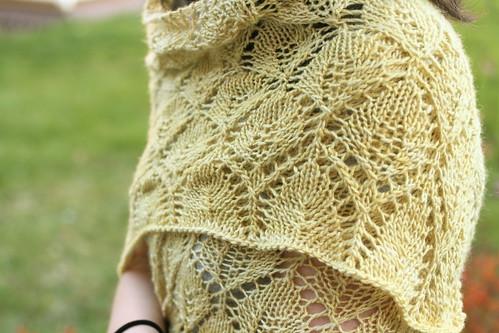 Leaf Lace Shawl in Silky Malabrigo