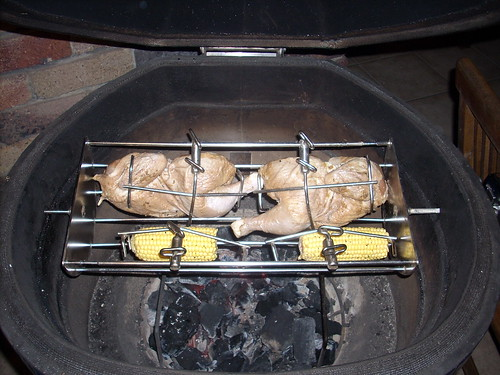 Rotisserie Chicken on the Komodod Kamado