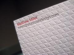 Studio Lab Letterpress Business Cards - Contact Closeup