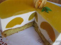 Фото торт с персиками