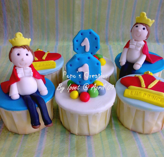 Prince Cupcake set