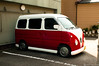 Volkswagen Type 2 (kurichan+) Tags: red white bus japan vw volkswagen interestingness nikon randomness vehicle hippie osaka van nikkor d300 28mmf28