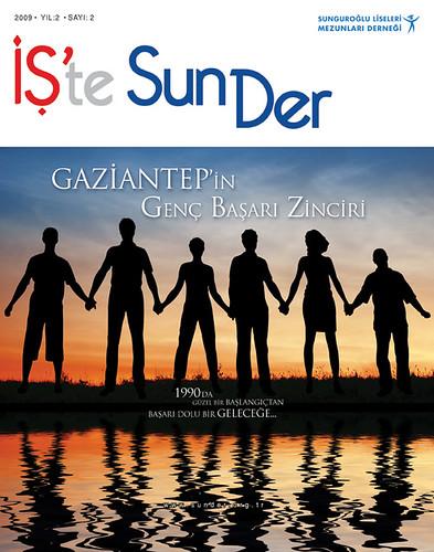 İş'te SUNDER Dergisi Kapak Tasarım