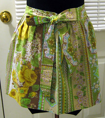 Pillowcase apron front with bow