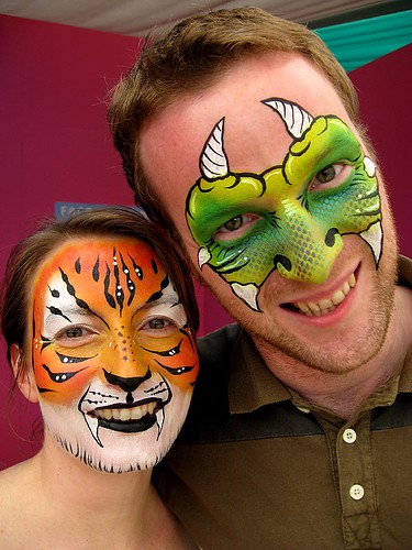 monster and tiger face painting por Lucid Arts Face Painting