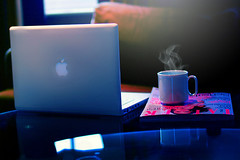 (D o u b l e y o u) Tags: blue reflection london canon magazine w missyou cupofcoffee macbook de~ doubelyou
