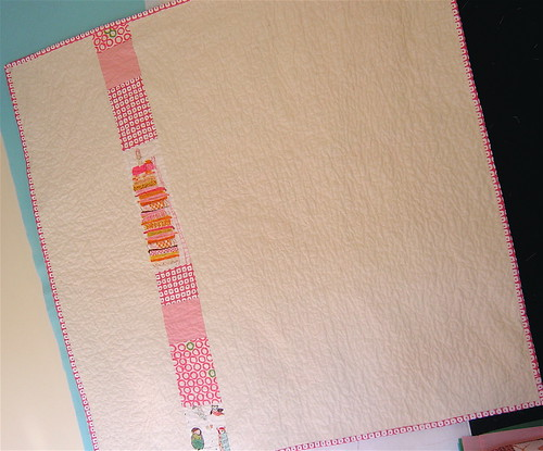 Girly Baby Quilt Back