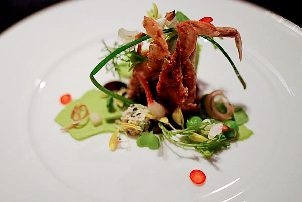 5---Soft-Shell-Crab---Peas-Five-Spice-&-Duck