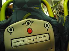 Ê palhaçada... (rage_art) Tags: bus art arte clown banco rage caio ônibus palhaço busão posca intervenção sptrans rageart canetaposca