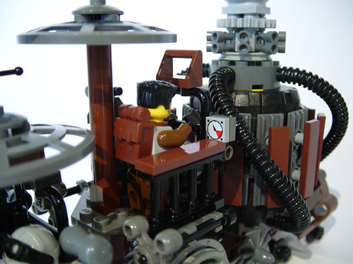 LEGO MOC Steampunk Train Locomotive - a photo on Flickriver
