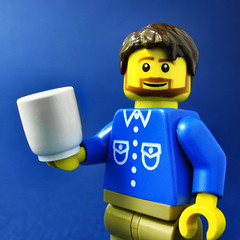 HI, BILLY MAYS HERE! (olo) Tags: lego rip explore minifig oxyclean oxiclean billymays