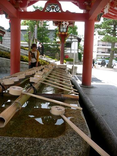 Hand-washing basin at Fushimi Inari
