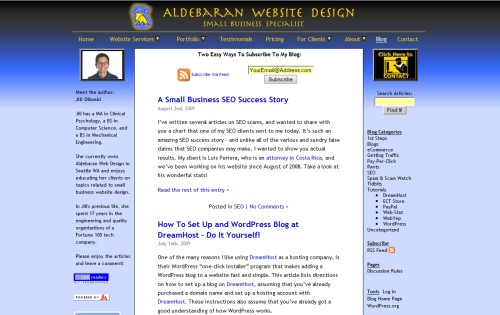 Aldebaran Web Design Blog
