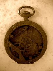 Rusted Pocket Watch 2 (Chris Draper) Tags: clock broken rust time watch rusted pocketwatch stoppedtime brokenclock