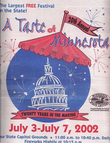 2002 Taste of MN Festival Program