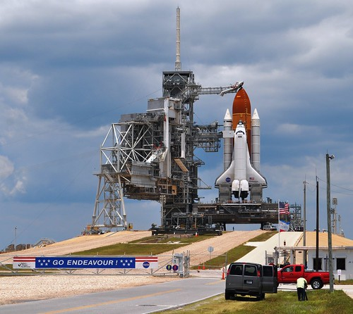 Space Shuttle Endeavour on the Launch Pad Day Before Launch, Kennedy Space Center, Fla., May 15, 2011
