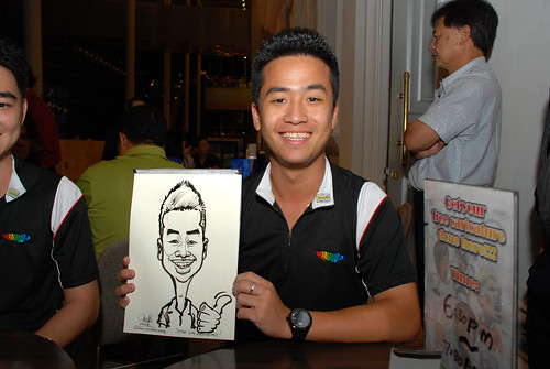 Caricature live sketching for Tetra 60th Anniversary - 10