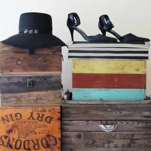 hat - shoes - boxes