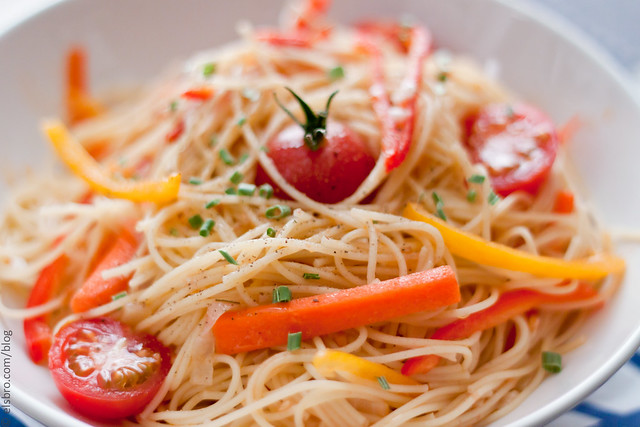 Capellini with Cherry Tomatoes