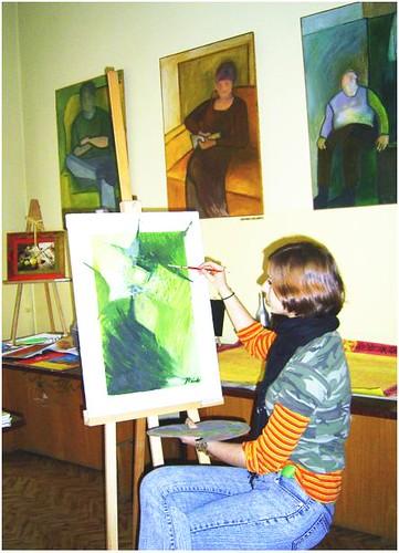 Mary Jane w naszej szkolnej pracowni sztuki :)
