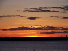Sunset over Narragansett Bay (robert.rinkel) Tags: ocean ri light sunset nature water sunrise dark bay newport narragansett rubyphotographer