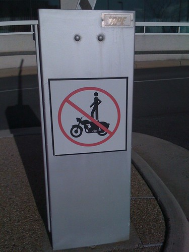 No Standing on Motorcycles
