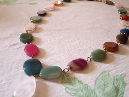 Coloured agate necklace