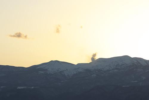 Smoke of volcano