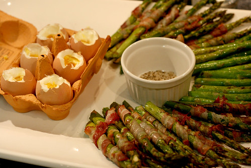 Asparagus and egg dippers