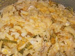 Tarta de bacalao-añadir huevo y nata