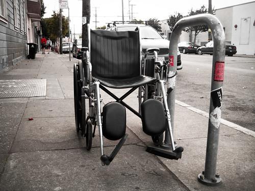 Locked Up Wheelchair