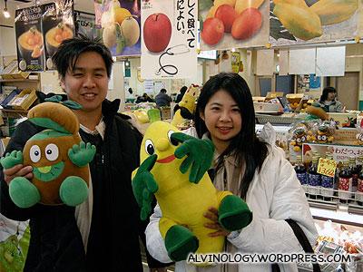 The market sells soft-toys too - Mark bought the Kiwi-man