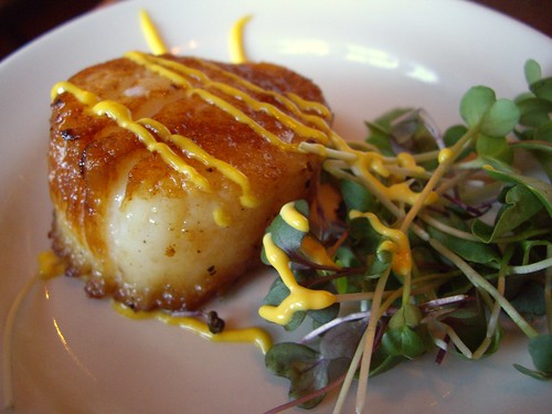 Seared Sea Scallop with Saffron Aioli