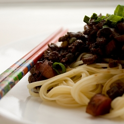 Jajangmyeon Noodles in Black Bean Sauce