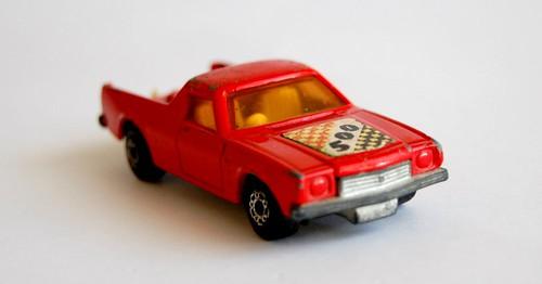 red matchbox car
