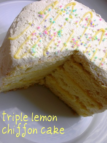 triple lemon chiffon cake