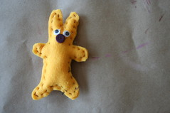 big-nosed bunny (the lulu bird) Tags: bunny yellow stuffed