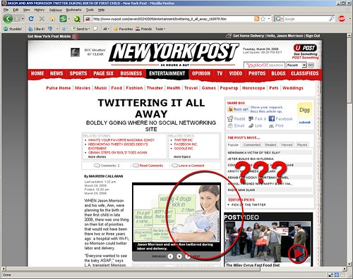 Ann and I featured in NYPost, but something's not quite right...