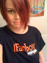 at home in my iFanboy t-shirt