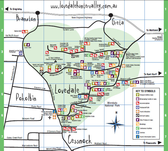Hunter Valley Winery Map Hunter Valley Winery Map | compressportnederland Hunter Valley Winery Map