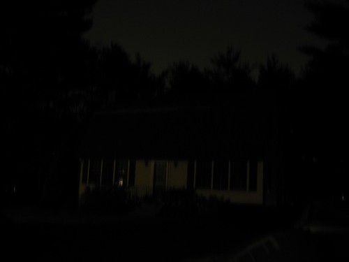My house shrouded in darkness during Earth Hour 2009