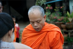 Monk Portrait (Ursula in Aus (Away)) Tags: street morning portrait man male thailand buddhist monk buddhism mon kanchanaburi alms  sangkhlaburi   globalspirit almsbowl earthasia totallythailand