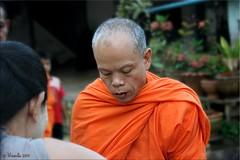 Monk Portrait (Ursula in Aus) Tags: street morning portrait man male thailand buddhist monk buddhism mon kanchanaburi alms  sangkhlaburi   globalspirit almsbowl earthasia totallythailand