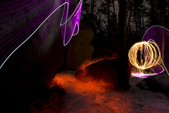 Boulder orb (craig.bilderback) Tags: lightpainting adirondack lapp
