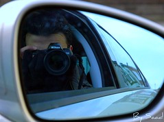 It's my ugly face (Saad Al-Enezi) Tags: camera uk england me window face car nikon head d100 saad c5 hartlepool alenzisaad