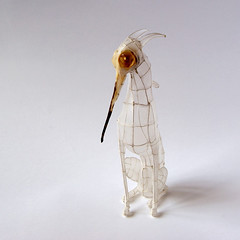 Paper and Wire Sculpture: The Sharp-beaked hound of Zeus. Showing at Papershapers, Scion Installation, curated by Giant Robot