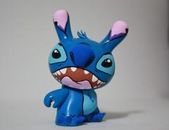 Stitch Dunny (WuzOne) Tags: stitch hellokitty vinyl kidrobot custom cartoons dunny munny artoy wuzone
