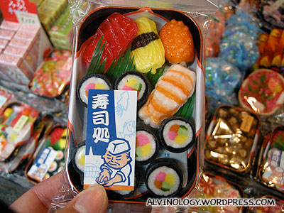 Sushi-shaped candies