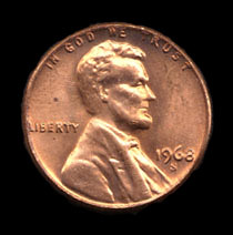 1968D Lincoln Cent
